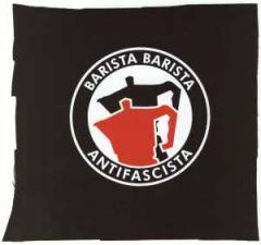 """Zum Aufnäher """"Barista Barista Antifascista (Moka)"""" für 1,10 € gehen."""