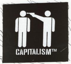 """Zum Aufnäher """"Capitalism [TM]"""" für 1,46 € gehen."""