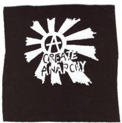 """Zum Aufnäher """"Create Anarchy"""" für 1,46 € gehen."""