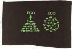 """Zum Aufnäher """"Ego - Eco"""" für 1,50 € gehen."""
