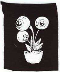 """Zum Aufnäher """"Eyeflower"""" für 1,50 € gehen."""
