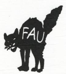 """Zum Aufnäher """"FAU - Katze"""" für 1,50 € gehen."""
