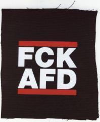 """Zum Aufnäher """"FCK AFD"""" für 1,10 € gehen."""