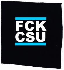 """Zum Aufnäher """"FCK CSU"""" für 1,50 € gehen."""