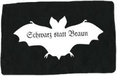 """Zum Aufnäher """"Fledermaus - schwarz statt braun"""" für 1,50 € gehen."""
