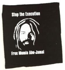 """Zum Aufnäher """"Free Mumia - Stop the Execution"""" für 1,10 € gehen."""