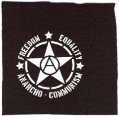 """Zum Aufnäher """"Freedom - Equality - Anarcho - Communism"""" für 1,50 € gehen."""