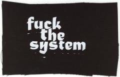 """Zum Aufnäher """"Fuck the System"""" für 1,46 € gehen."""