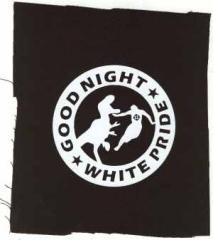 """Zum Aufnäher """"Good night white pride - Dinosaurier"""" für 1,50 € gehen."""