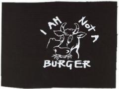 "Zum Aufnäher ""I am not a burger"" für 1,10 € gehen."