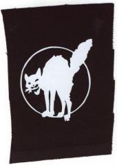 """Zum Aufnäher """"Katze"""" für 1,50 € gehen."""