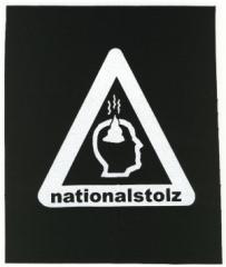 """Zum Aufnäher """"Nationalstolz"""" für 1,50 € gehen."""