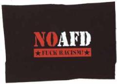 """Zum Aufnäher """"NO AFD"""" für 1,50 € gehen."""