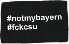 """Zum Aufnäher """"#notmybayern #fckcsu"""" für 1,50 € gehen."""