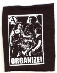 """Zum Aufnäher """"Organize"""" für 1,50 € gehen."""
