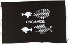 """Zum Aufnäher """"Organize! Fische"""" für 1,50 € gehen."""