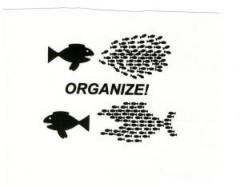 """Zum Aufnäher """"Organize! Fische"""" für 1,10 € gehen."""
