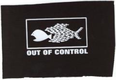 """Zum Aufnäher """"Out of Control"""" für 1,50 € gehen."""