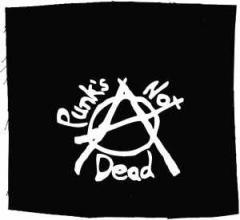 """Zum Aufnäher """"Punks not Dead (Anarchy)"""" für 1,50 € gehen."""