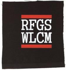 """Zum Aufnäher """"RFGS WLCM"""" für 1,50 € gehen."""