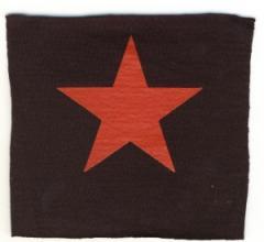 """Zum Aufnäher """"Roter Stern"""" für 1,50 € gehen."""