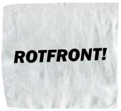 """Zum Aufnäher """"Rotfront!"""" für 1,50 € gehen."""
