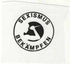 """Zum Aufnäher """"Sexismus bekämpfen"""" für 1,50 € gehen."""