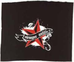 """Zum Aufnäher """"Siempre Antifascista"""" für 1,10 € gehen."""