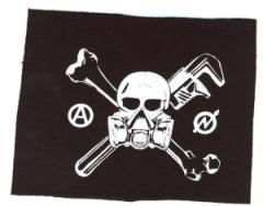 """Zum Aufnäher """"Skull - Gasmask"""" für 1,50 € gehen."""