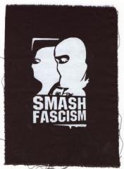 """Zum Aufnäher """"Smash Fascism (Autonom)"""" für 1,50 € gehen."""