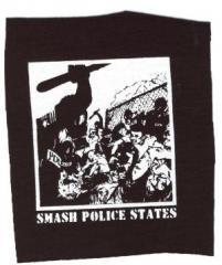 """Zum Aufnäher """"Smash Police States"""" für 1,50 € gehen."""
