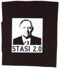 """Zum Aufnäher """"Stasi 2.0"""" für 1,10 € gehen."""