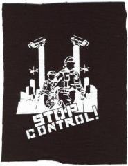 """Zum Aufnäher """"Stop Control"""" für 1,50 € gehen."""