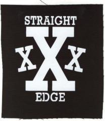 """Zum Aufnäher """"Straight Edge"""" für 1,50 € gehen."""