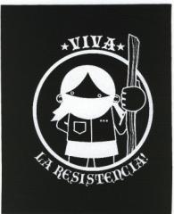 """Zum Aufnäher """"Viva La Resistencia!"""" für 1,10 € gehen."""