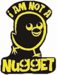 """Zum Anstecker / Pin """"I am not a nugget"""" für 3,00 € gehen."""