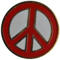 """Zum Anstecker / Pin """"Peacezeichen"""" für 3,00 € gehen."""