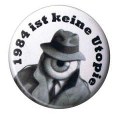 """Zum 50mm Button """"1984 ist keine Utopie"""" für 1,17 € gehen."""