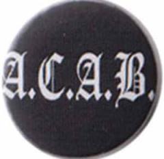"""Zum 50mm Button """"ACAB Fraktur"""" für 1,20 € gehen."""