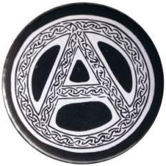 """Zum 50mm Button """"Anarchie - Tribal (schwarz)"""" für 1,17 € gehen."""