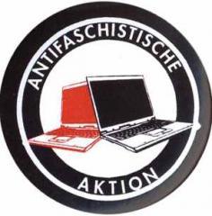 """Zum 50mm Button """"Antifa Zeckenbiss Laptops"""" für 1,40 € gehen."""