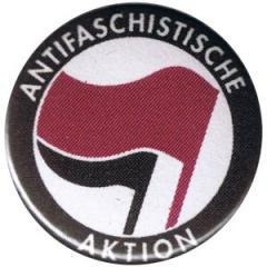"""Zum 50mm Button """"Antifaschistische Aktion (lila/schwarz)"""" für 1,20 € gehen."""
