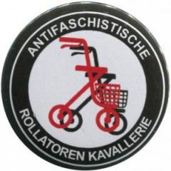 """Zum 50mm Button """"Antifaschistische Rollatoren Kavallerie"""" für 1,20 € gehen."""