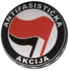 """Zum 50mm Button """"Antifasisticka Akcija (rot/schwarz)"""" für 1,20 € gehen."""
