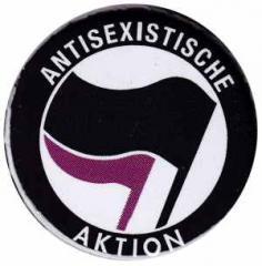 """Zum 50mm Button """"Antisexistische Aktion (schwarz/lila)"""" für 1,20 € gehen."""