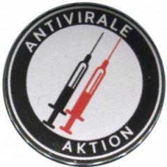 """Zum 50mm Button """"Antivirale Aktion - Spritzen"""" für 1,20 € gehen."""