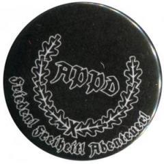"""Zum 50mm Button """"APPD Ährenkranz Frieden! Freiheit! Abenteuer! (schwarz)"""" für 1,17 € gehen."""