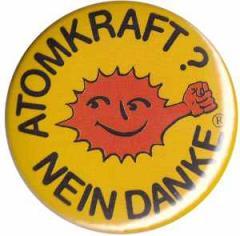 """Zum 50mm Button """"Atomkraft? Nein Danke - mit Faust"""" für 1,20 € gehen."""