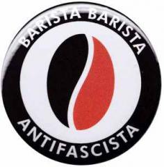 """Zum 50mm Button """"Barista Barista Antifascista (Bohne)"""" für 1,20 € gehen."""