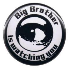 """Zum 50mm Button """"Big Brother is watching you"""" für 1,17 € gehen."""